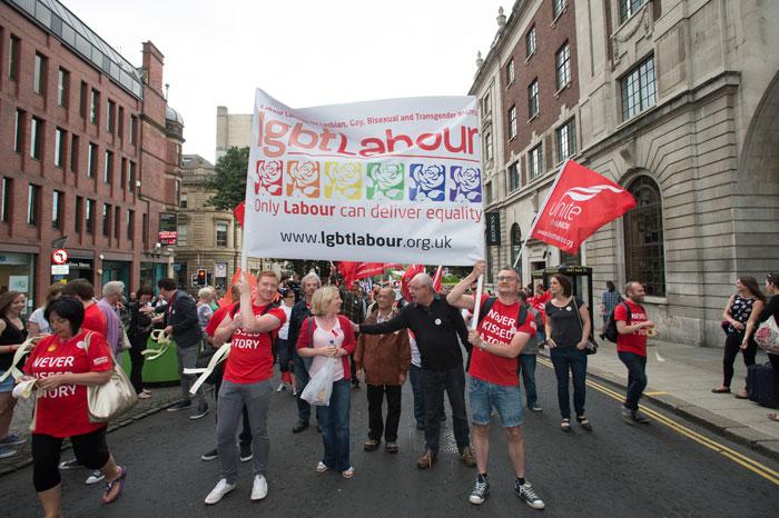 Gay Pride March Leeds 2014