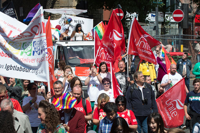 Gay Pride March Leeds 2014