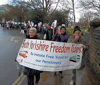 O Freedom Ride march in York small