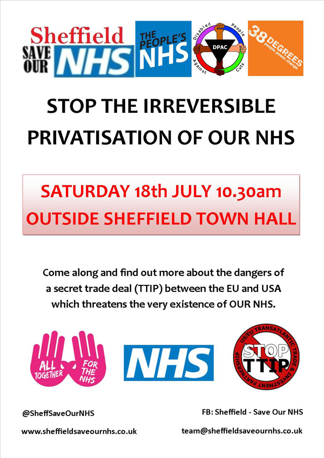 Sheff Save Our NHS 18.07.15