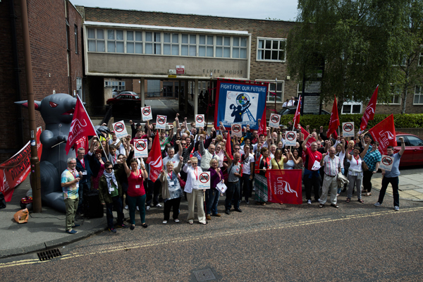 Demonstration against benefit cuts, Durham