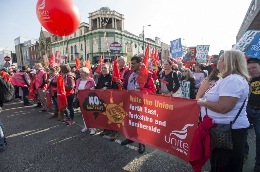 TUC National Rally and March on the Conservative Party conference, Manchester, 4th October, 2015